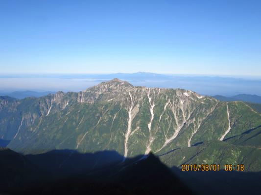 笠ケ岳と白山