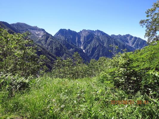 奥丸山途中から穂高連峰