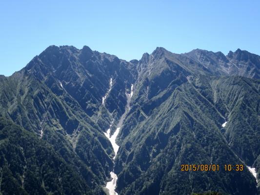 奥丸山から穂高連峰