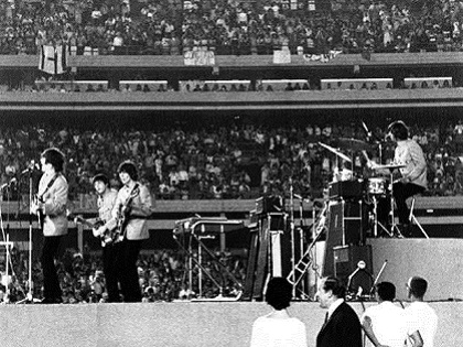 Beatles play Shea Stadium