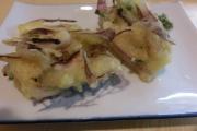 14タコとミョウガとうもろこし分葱の天ぷら・抹茶塩