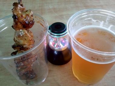 昼ビールは最高だぜ!