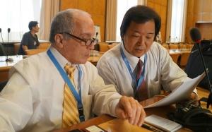 トニー・マラーノ氏(左)と藤木俊一氏