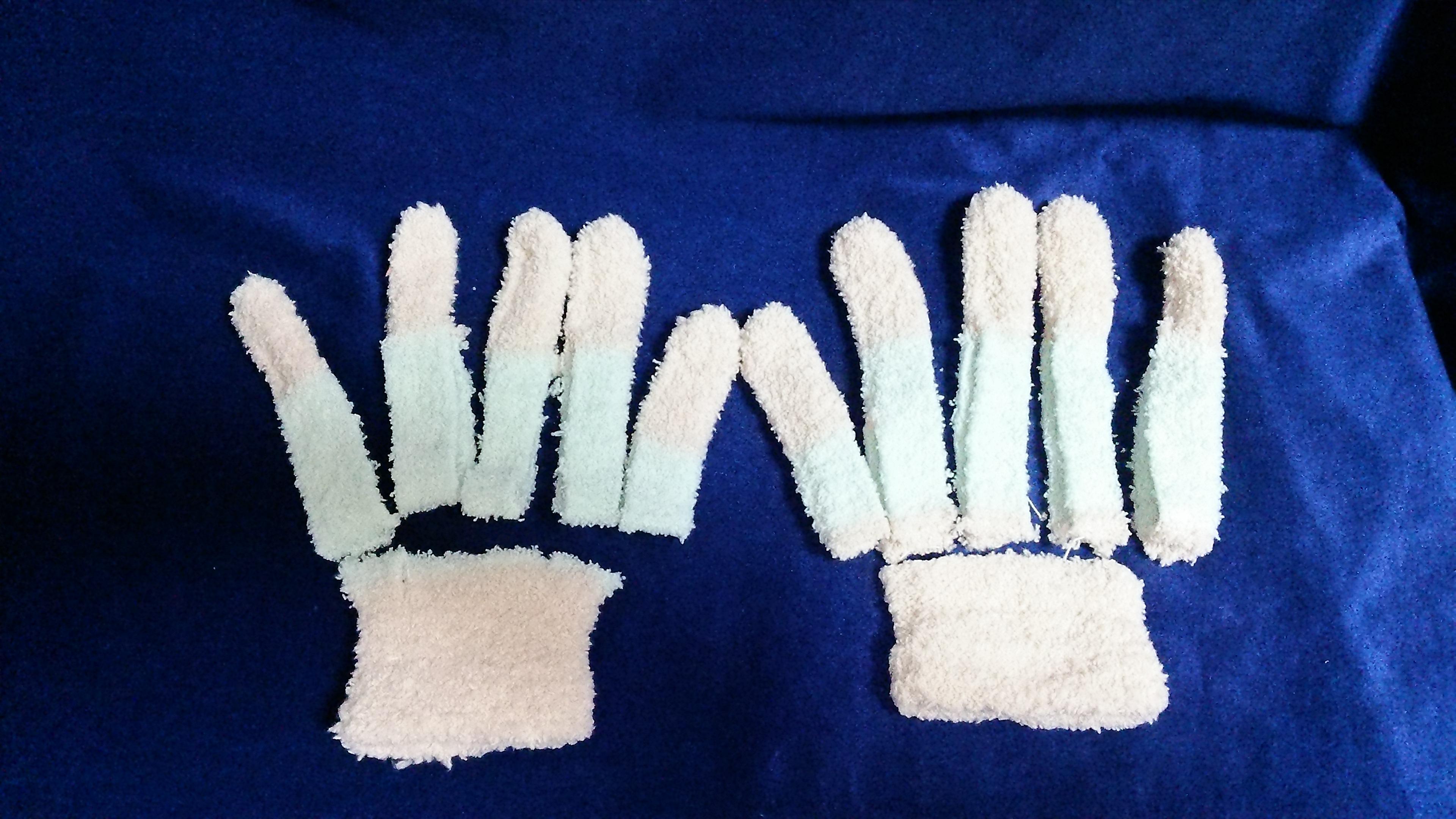 手袋 指 人形 分離