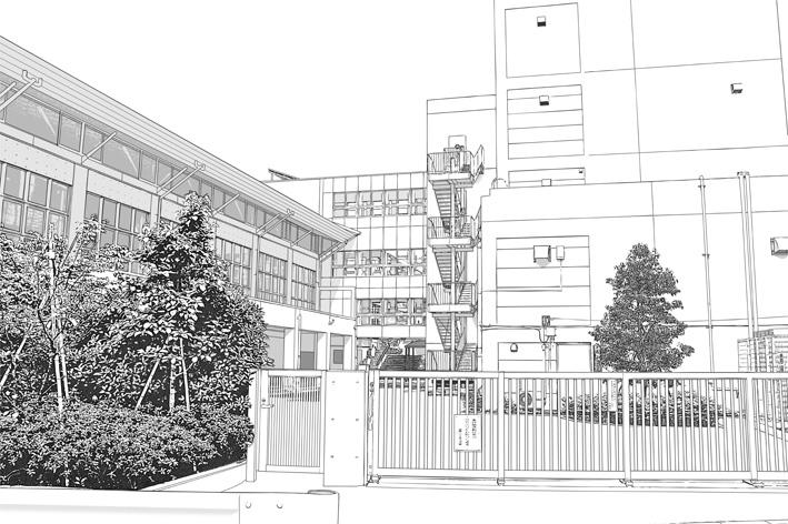 写真加工・漫画背景・学校外観001