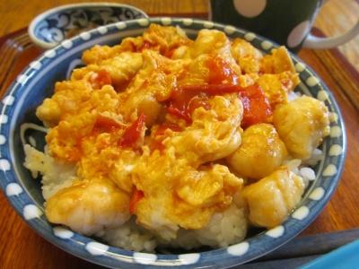 フグ玉トマト丼1