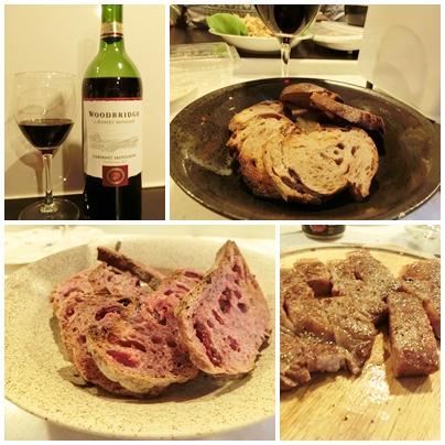 ワインとパンと肉