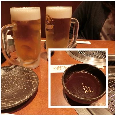 お疲れさまビールとタレ
