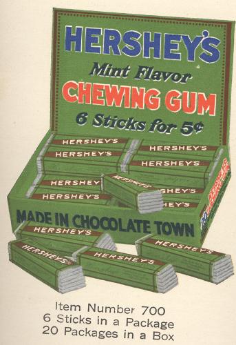 Hershey chewing gum