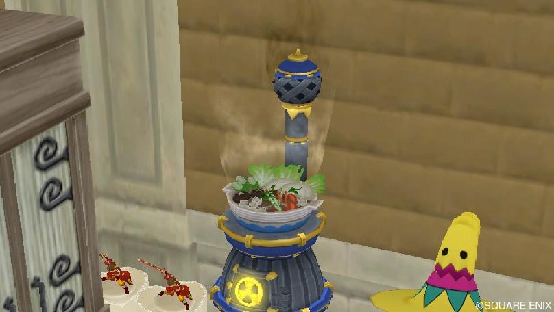 ストーブの上に鍋