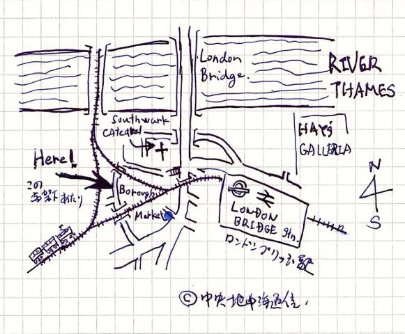 地図 バラマーケット PLAN to Borough Market