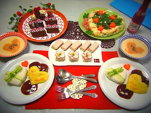 2015.2.14 バレンタインご飯とチョコ 1