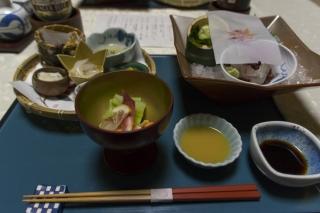 雲仙宮崎旅館で夕食を