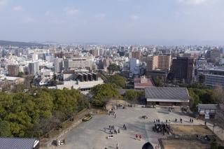 熊本市内を見下ろす