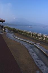 道の駅から望む桜島