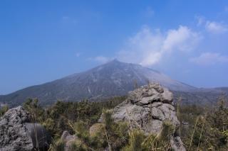 噴火が見える桜島