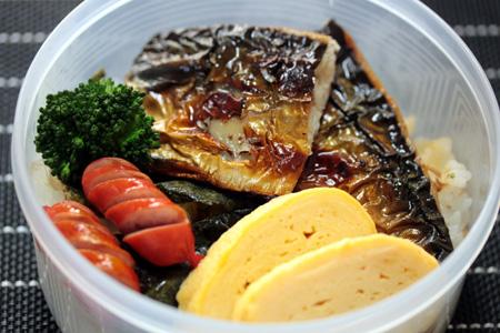塩鯖海苔弁当2