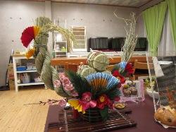 教室のお正月用飾り