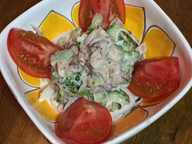 ゴーヤサバ缶サラダ