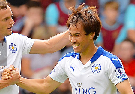 Okazaki scored for Leicester against WestHam