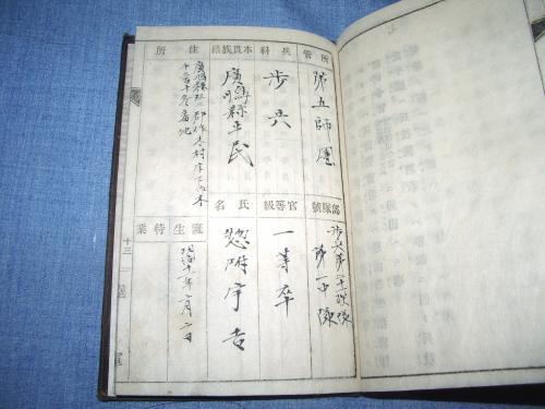 軍隊手帳10