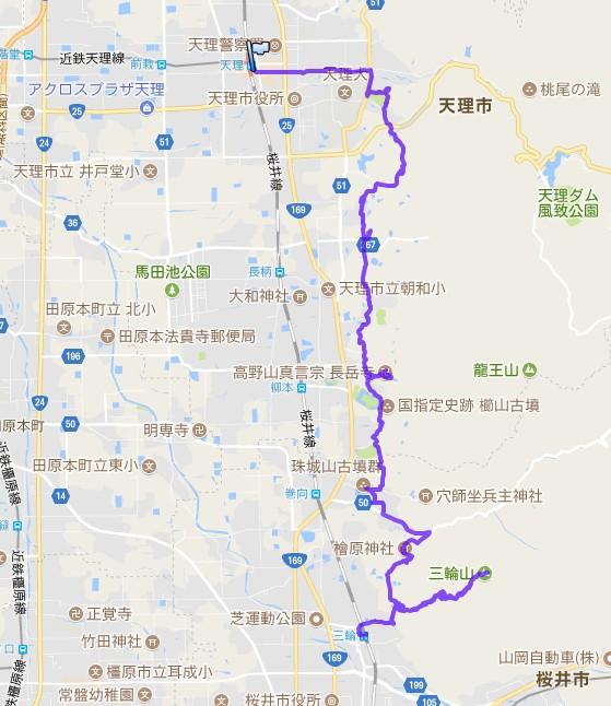 1707-00a-山辺の道-軌跡