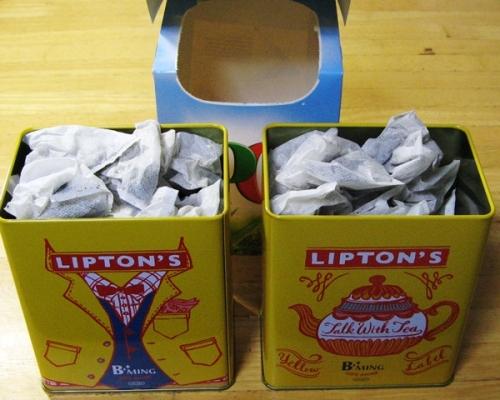 リプトン缶×2