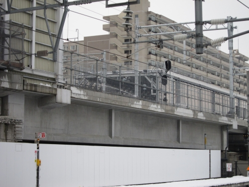 北陸本線経由の一筆書き片道切符の旅 富山駅・融雪スプリンクラー