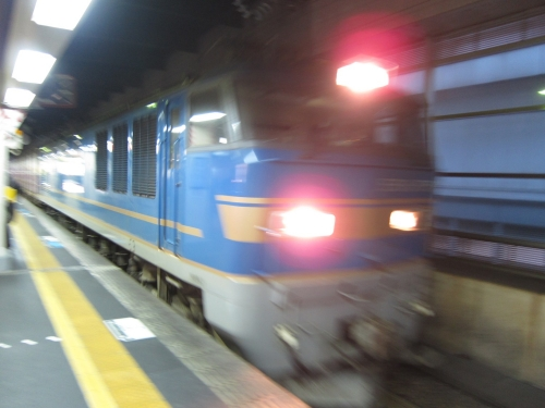 北陸本線経由の一筆書き片道切符の旅 金沢駅貨物列車通過