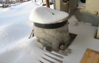 201501 暴風雪一過の露天風呂