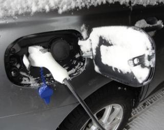 201501 暴風雪一過---EV充電口