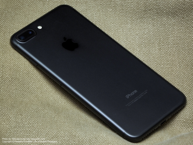 Apple iPhone 7 Plus Blackの背面