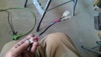 ズーマ ヘッドライトの配線1