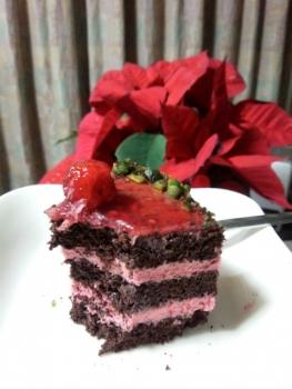 ケーキ食べかけ・・・(゚△゚;・・