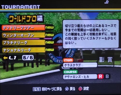 PS2エンジョイゴルフ シニアプロ以降 (5)