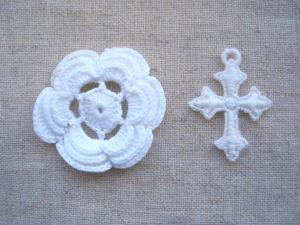 立体お花、クロス