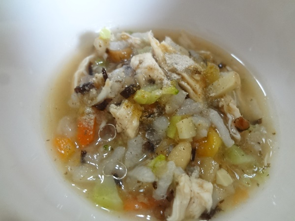 ハトムギシリアル入りささみと根菜のトマトリゾット