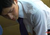 ゲイ動画:[男のプリケツ] 激アツキュート男子リーマンオナニー残業 !! 好帥哥