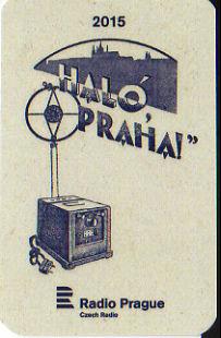 Radio Prague, Radio Praha ラジオ・プラハ(チェコ) 2015年 年賀状、ポケットカレンダー