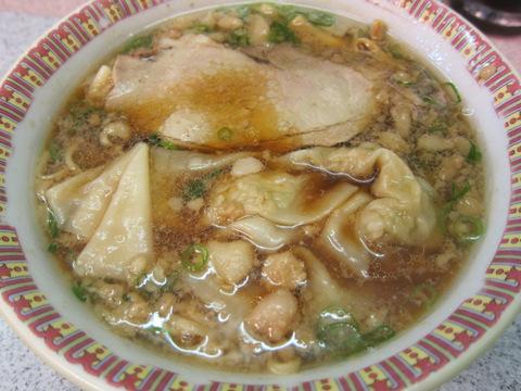 朱華園・福山元町店_2(おひとりワンタン麺)