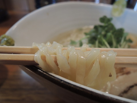 鯛塩ラーメン(平太手もみ麺)の麺