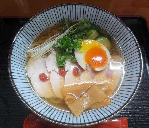 煮干しの冷たいラーメン(¥850)