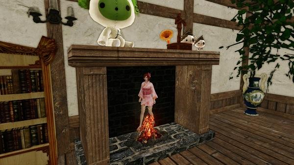 8月16日暖炉にハマる