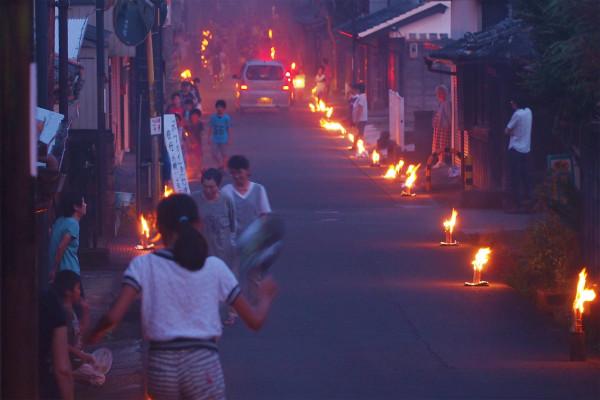久礼のほうかい 盆の迎え火と送り火