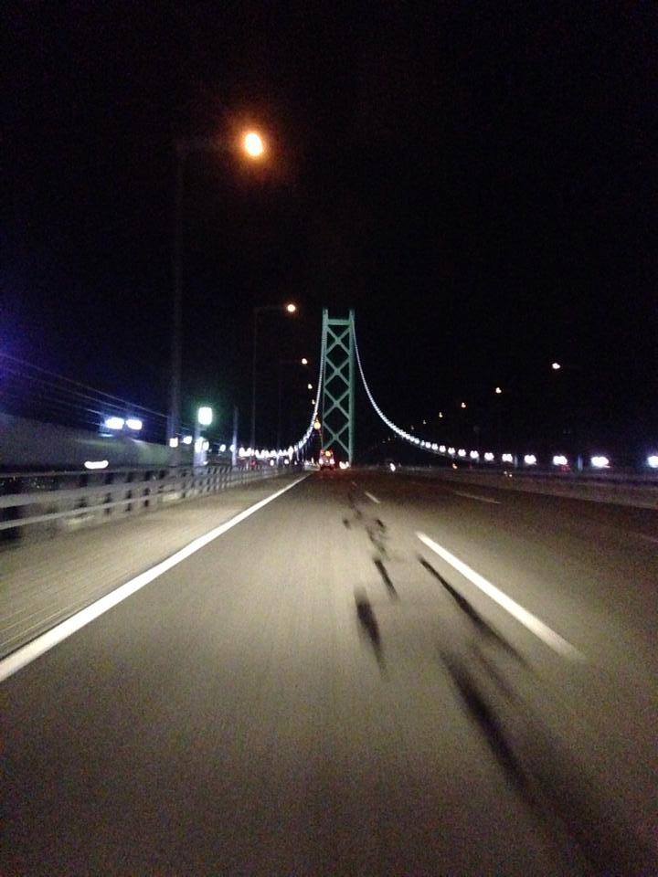 明石海峡大橋 神戸 淡路 鳴門自動車道 夜景