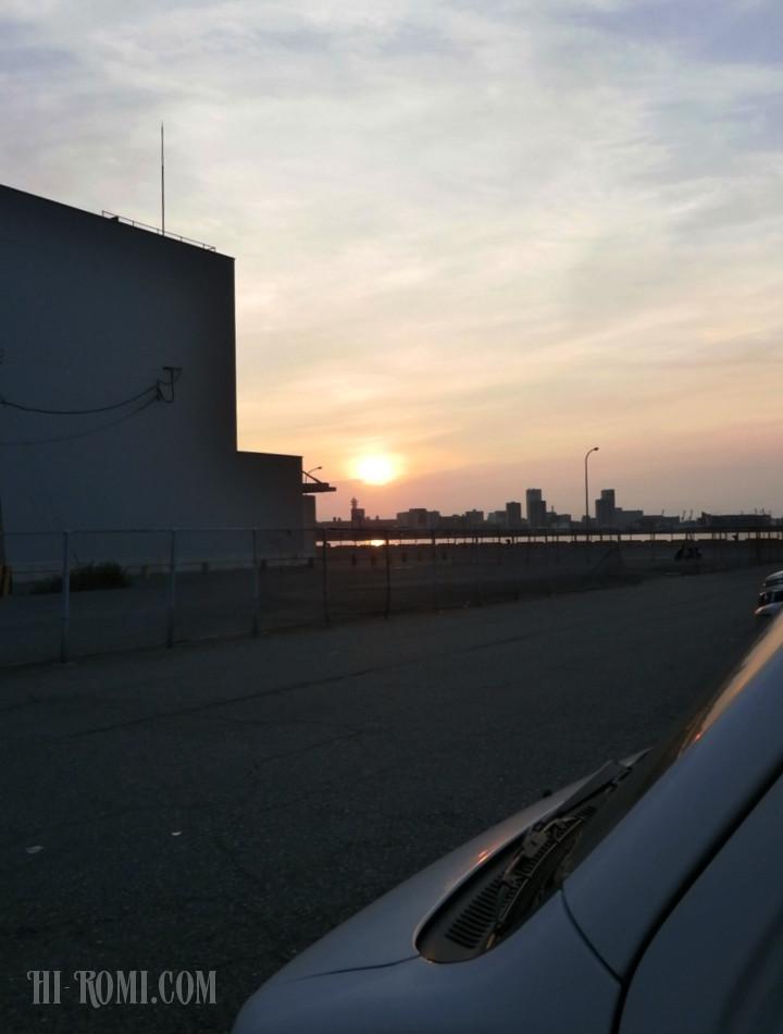 早朝 堤防 さびき釣り サビキ 車横づけ