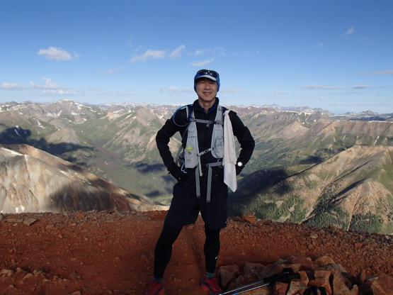 Redcloud Peak頂上にて