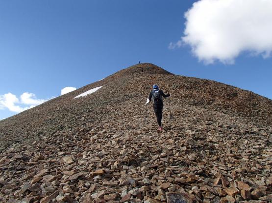 最後の急な登り