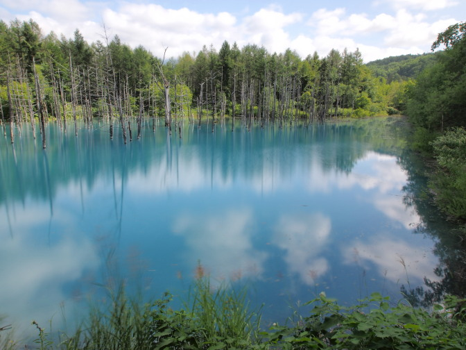 美瑛の青い池(NDフィルター使用)