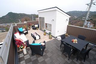 屋上のモデルハウス001